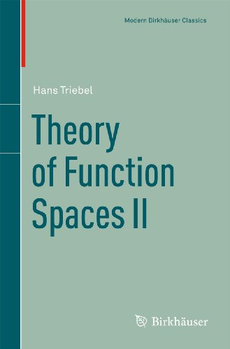 9783034604185: Theory of Function Spaces II (Modern Birkhäuser Classics)