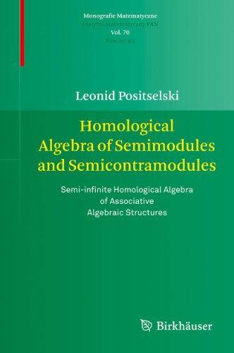 9783034604352: Homological Algebra of Semimodules and Semicontramodules: Semi-infinite Homological Algebra of Associative Algebraic Structures (Monografie Matematyczne)