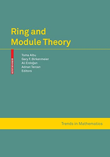 Ring and Module Theory.: Albu, Toma et