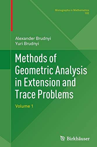 Methods of Geometric Analysis in Extension and: ALEXANDER BRUDNYI