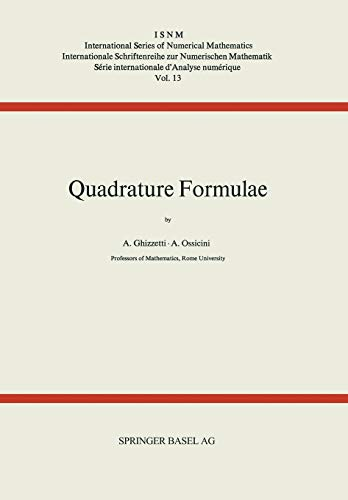 9783034858373: Quadrature Formulae (International Series of Numerical Mathematics) (German Edition)