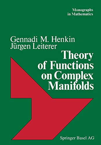 Theory of Functions on Complex Manifolds (Monographs in Mathematics): HENKIN