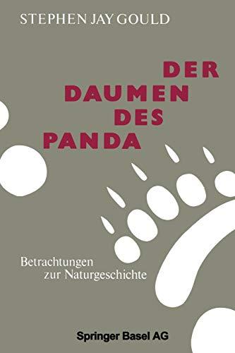 9783034865890: Der Daumen Des Panda: Betrachtungen Zur Naturgeschichte