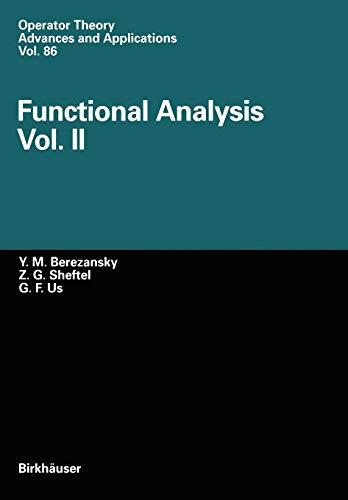 9783034898720: Functional Analysis: 2