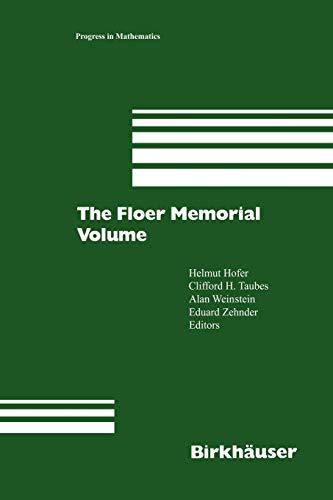 9783034899482: The Floer Memorial Volume (Progress in Mathematics)