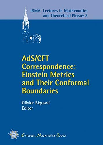 9783037190135: AdS/CFT Correspondence: Einstein Metrics and Their Conformal Boundaries (IRMA Lectures in Mathematics & Theoretical Physics)