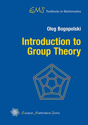 9783037190418: Introduction to Group Theory (EMS Textbooks in Mathematics)