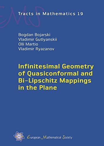 9783037191224: Infinitesimal Geometry of Quasiconformal and Bi-lipschitz Mappings in the Plane (EMS Tracts in Mathematics)