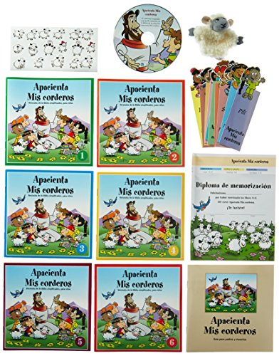 9783037303443: BIBLE VERSES FOR KIDS MADE FUN! FEED MY LAMBS-Bible Verses for Children-Bible Games-Bible Verse Stickers-Puppets-Christian Music DVD-Memorizing ... Christian Music CD (Spanish Edition)