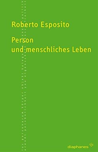 9783037341018: Person und menschliches Leben