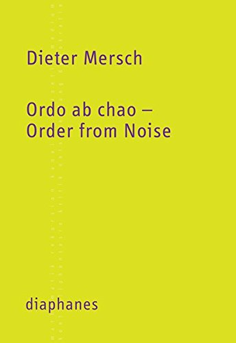 9783037343821: Ordo ab chao - Order from Noise
