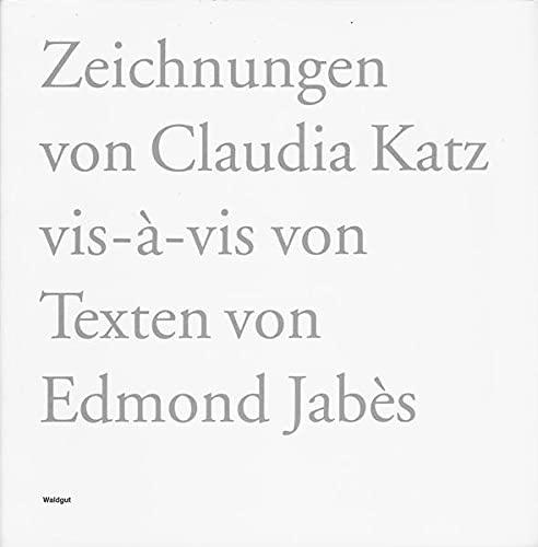 9783037400340: Vis-à-vis by Jabès, Edmond; Katz, Claudia; Brechbühl, Beat