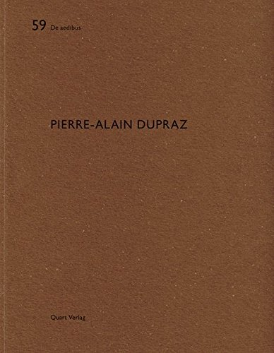 9783037611043: Pierre-Alain Dupraz: De aedibus (French and German Edition)