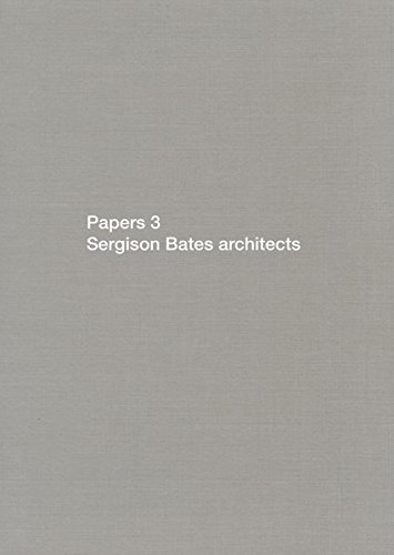 9783037611074: Papers 3: Sergison Bates Architects