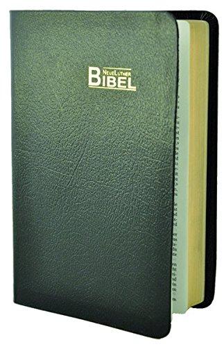 9783037710319: NeueLuther Bibel: Luther 2009 - Lederfaserstoff schwarz - Goldschnitt