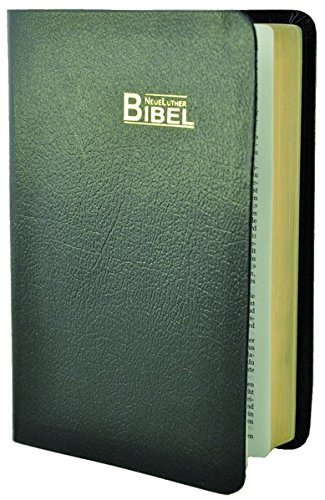 9783037710357: NeueLuther Bibel, Großausgabe: Luther 2009 - Lederfaserstoff schwarz