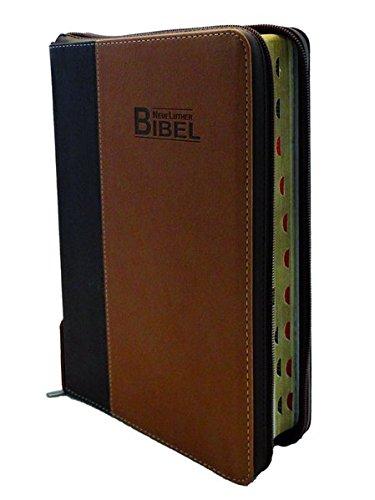 """Bibelausgaben Neue Lutherbibel - Softcover - PU """"Cowboy"""", Reißverschluss, ..."""