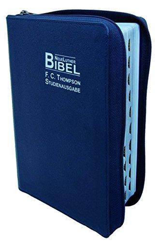 9783037710937: F.C. Thompson Studienbibel: NeueLuther Bibel - Luther 2009 - Leder blau, Silberschnitt, Griffregister, Reißverschluss