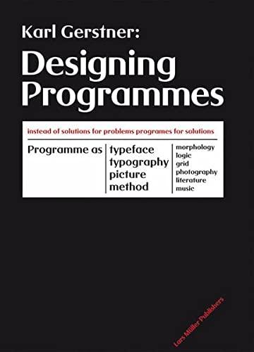 Designing Programmes: Gerstner, Karl