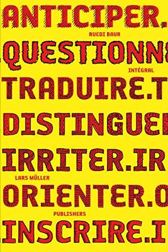 9783037782033: Ruedi Baur intégral