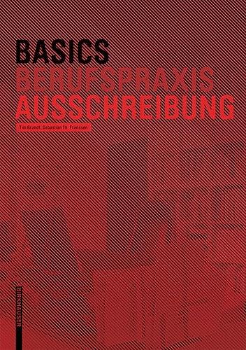 9783038215189: Basics Ausschreibung (German Edition)