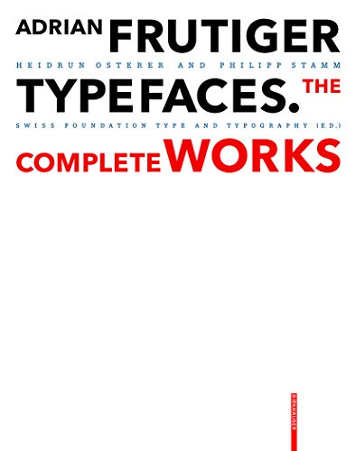 9783038215264: Adrian Frutiger - Typefaces: The Complete Works