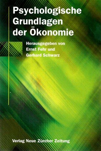9783038230274: Psychologische Grundlagen der Ökonomie