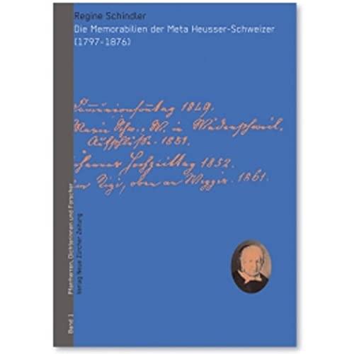 Die Memorabilien der Meta Heusser-Schweizer: Regine Schindler