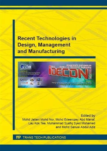Recent Technologies in Design, Management and Manufacturing;: International Conference on