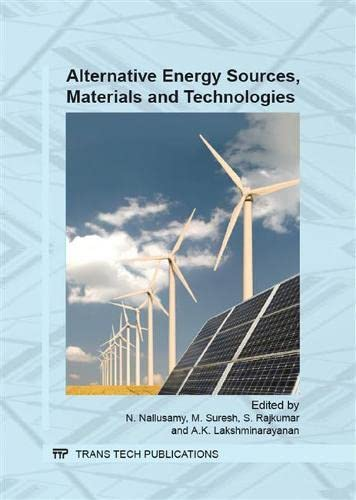 Alternative Energy Sources, Materials and Technologies; select: International Conference on