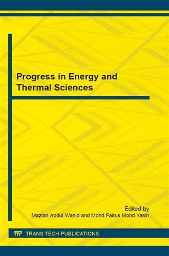 9783038356691: Progress in Energy and Thermal Sciences (Applied Mechanics and Materials)