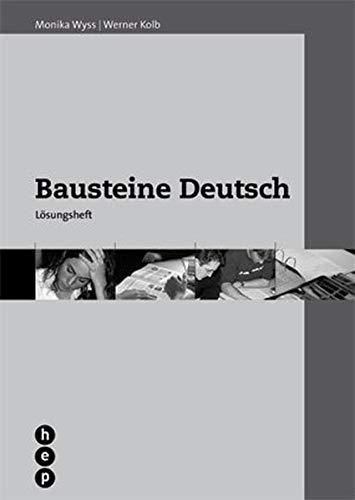 9783039054473: Bausteine Deutsch: Ein Trainingsbuch für die Sekundarstufe II und die Tertiär...