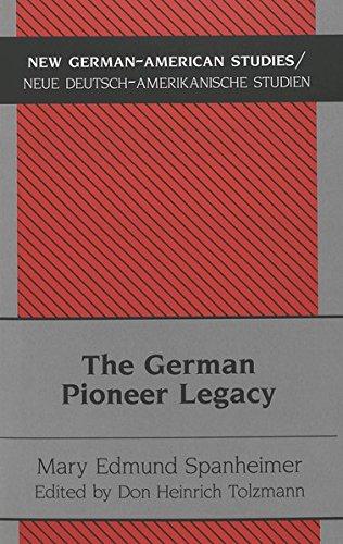 9783039101795: The German Pioneer Legacy: The Life and Work of Heinrich A. Rattermann (New German-American Studies / Neue Deutsch-Amerikanische Studien)