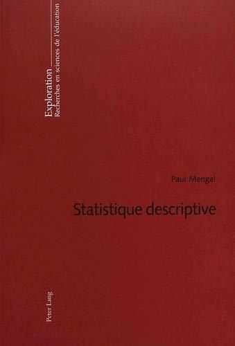9783039102372: Statistique Descriptive