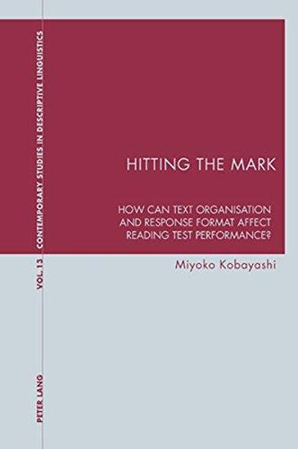 Hitting the Mark (Contemporary Studies in Descriptive: Miyoko Kobayashi