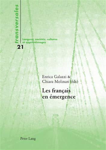 9783039116348: Les français en émergence