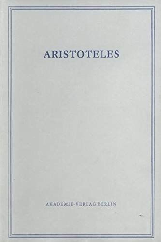 9783050000268: Staat Der Athener (Aristoteles Werke) (German Edition)