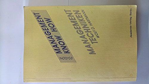 9783050002033: Handbuch Der Managementtechniken: Moderne Managementmethoden Und -Techniken Im Kritischen Ueberblick