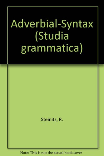 Adverbial-Syntax.: Steinitz, Renate
