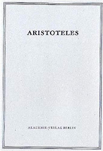 9783050010502: Opuscula: Mirabilia. De Audibilibus (Aristoteles Werke) (German Edition)