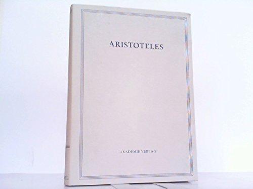 9783050019192: Aristoteles Werke in Deutscher Uebersetzung: Peri Hermeneias Vol 1/II (German Edition)