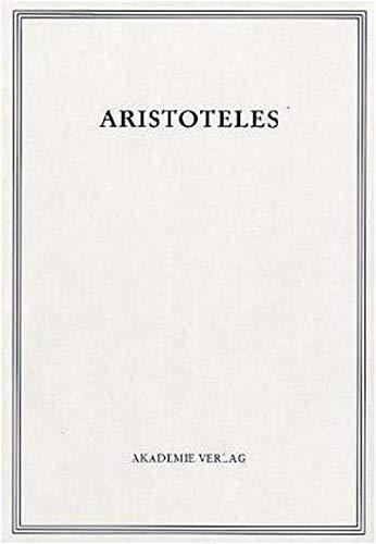 9783050023984: Aristoteles Werke in Deutscher Uebersetzung: De Insomniis/De Divinatione Per Somnum Vol 14/III