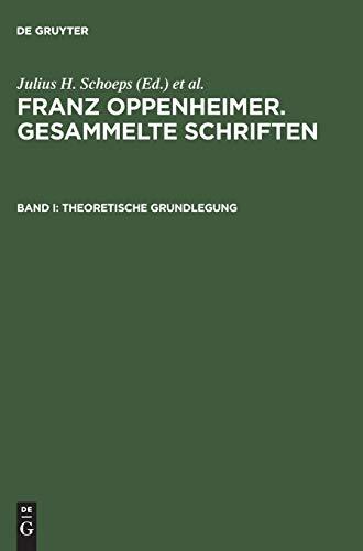 9783050026732: Theoretische Grundlegung (German Edition)