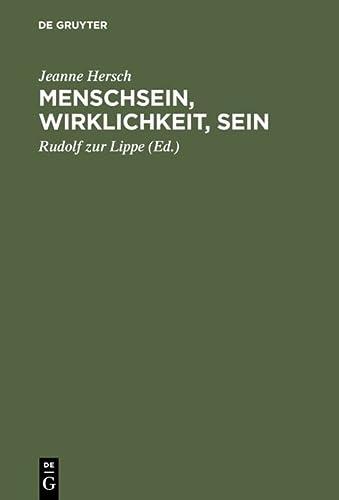 9783050027838: Mensch Sein Wirklichkeit Sein Karl Jaspers Vorlesungen Zu Fragen Der Zeit