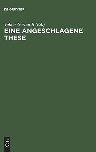 9783050027951: Eine angeschlagene These: Die 11. Feuerbachthese von Karl Marx als Leitspruch für eine erneuerte Humboldt-Universität zu Berlin?
