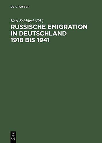 9783050028019: Russische Emigration in Deutschland 1918 bis 1941