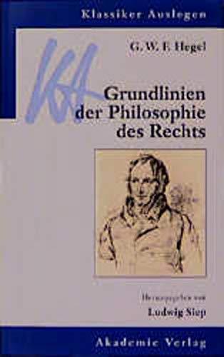 9783050028682: G.W.F Hegel - Grundlinien Der Philosophie DES Rechts