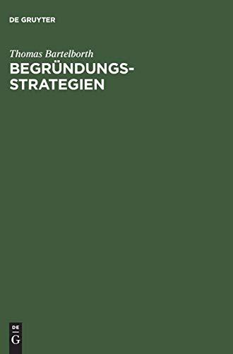 9783050030883: Begruendungsstrategien Ein Weg Durch Die Analytische Erkenntnistheorie