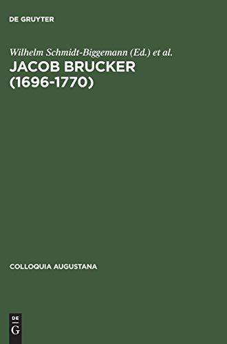 9783050030975: Jacob Brucker (16961770) (Colloquia Augustana) (German Edition)