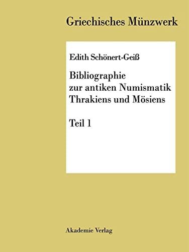 9783050032863: Bibliographie zur antiken Numismatik Thrakiens und Moesiens